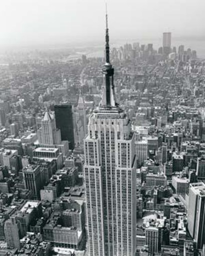 Empire State Building / World Trade Center by Christopher Bliss art print