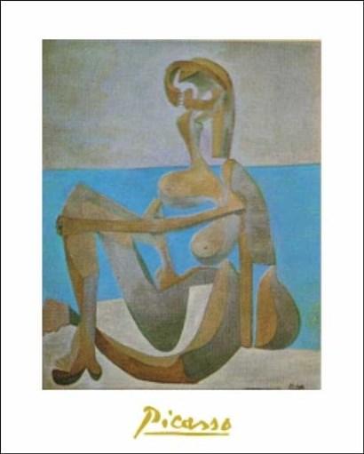 Baigneuse Assise Au Bord De La Mer by Pablo Picasso art print