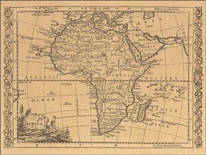 Africa, 1800 art print