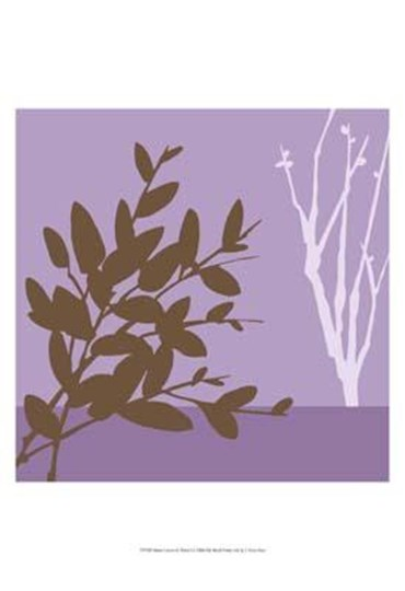 Metro Leaves In Violet I by June Erica Vess art print