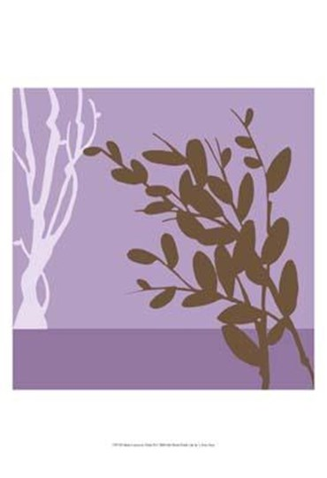 Metro Leaves In Violet II by June Erica Vess art print