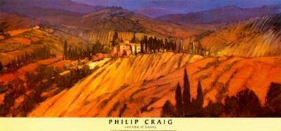Last View of Tuscany by Philip Craig art print
