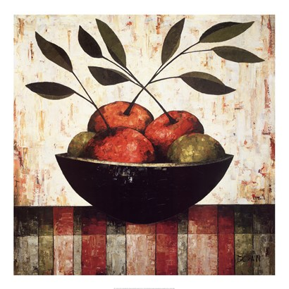 Fruit Bowl on Silk by Constance Bachmann art print