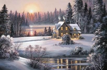 Winter Sunset by Dubravko Raos art print