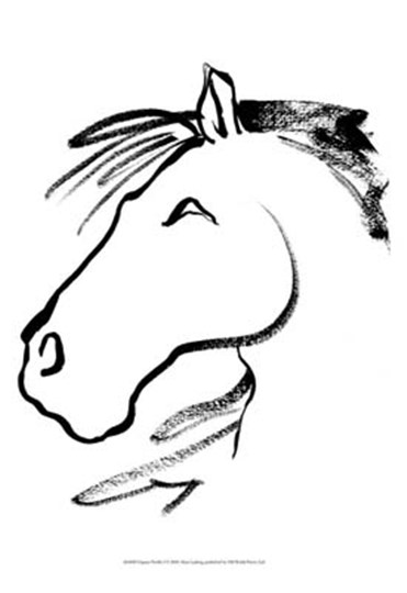 Equine Profile I by Alicia Ludwig art print