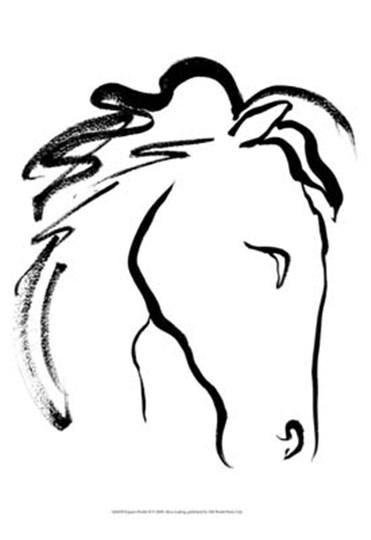 Equine Profile II by Alicia Ludwig art print