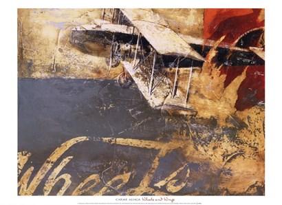 Wheels and Wings by Carme Aliaga art print