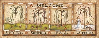 Seasonal Welcome by Mary Ann June art print