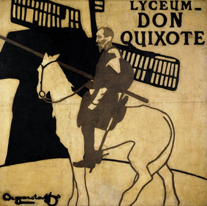 Lyceum-Don Quixote by William Nicholson & James Pryde art print