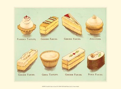 Fanciful Cakes & Tarts II by Vision Studio art print