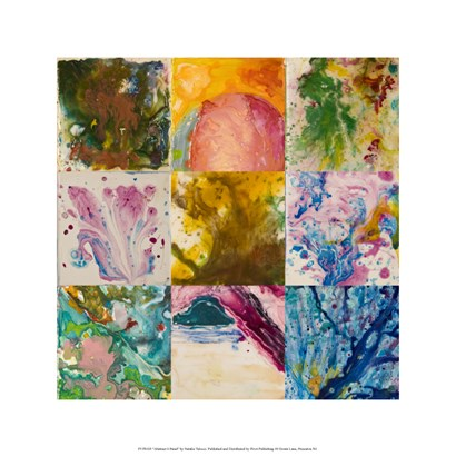 Abstract 6 Panel by Natalie Talocci art print