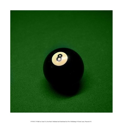 8 Ball on Green by Jim Rush art print