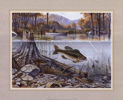 River Fishing by Ron Jenkins art print