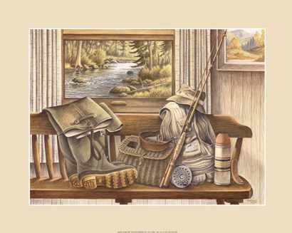 Fishing Gear by Ron Jenkins art print