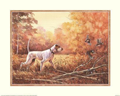 Hunting Dog by Peggy Thatch Sibley art print