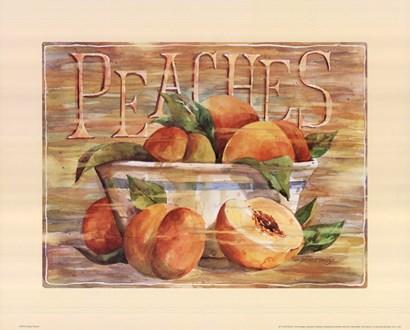 Fruit Stand Peaches by Jerianne Van Dijk art print