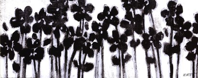 Black Flowers on White II by Norman Wyatt Jr. art print