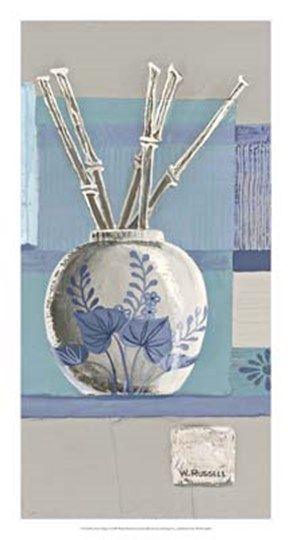 Blue Asian Collage I by Wendy Russell art print
