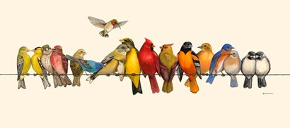 Bird Menagerie I by Wendy Russell art print