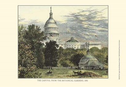 Capitol From the Botanical Gardens by Karst art print