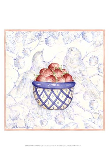Toile & Berries I by Nancy Shumaker art print