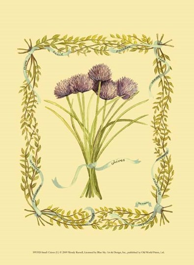 Small Chives by Wendy Russell art print