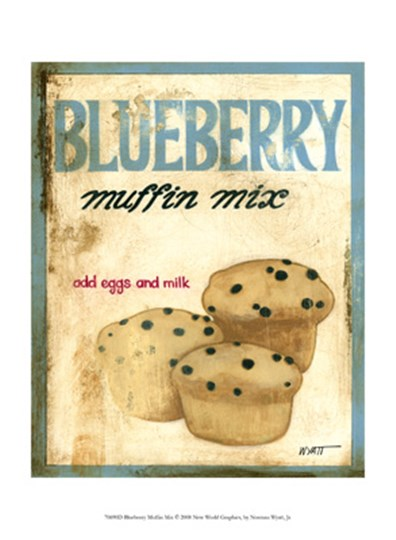 Blueberry Muffin Mix by Norman Wyatt Jr. art print