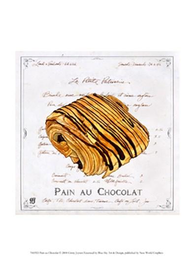 Pain au Chocolat by Ginny Joyner art print