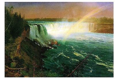 Niagara Falls by Albert Bierstadt art print