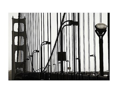 Golden Gate Bridge in Silhouette by Christian Peacock art print