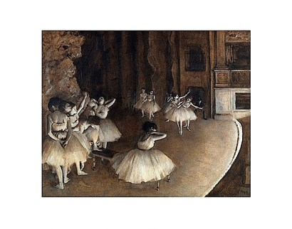 Dance Rehearsal, 1874 by Edgar Degas art print