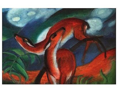 Red Deer II by Franz Marc art print