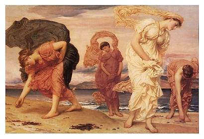 Greek Girls Picking up Pebbles by Frederic Leighton art print