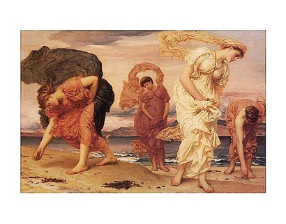 Greek Girls Picking up Pebbles by Frederic Leighton art print