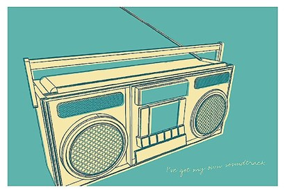 Lunastrella Boombox by John Golden art print
