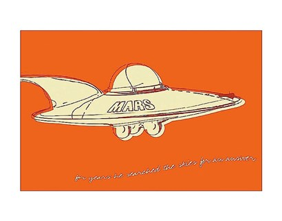 Lunastrella Flying Saucer by John Golden art print