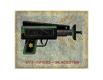 Blackstar Ray Gun by John Golden art print