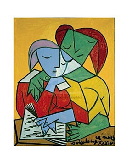 Two Girls Reading by Pablo Picasso art print