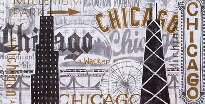 Hey Chicago Vintage by Michael Mullan art print