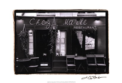 Cafe Charm, Paris V by Laura Denardo art print