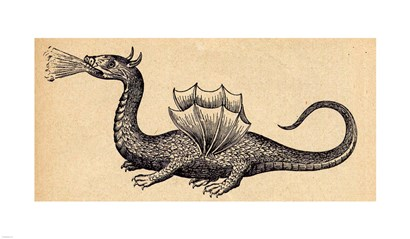 Medieval Dragon II art print