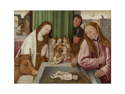 The adoration of the Child art print