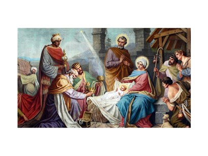Adoration of the Shepherds and the Magi art print