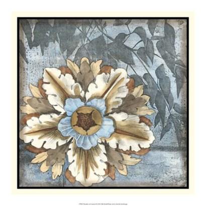 Rosette with Leaves II by Jennifer Goldberger art print