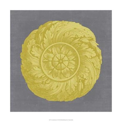 Gilded Rosette I by Vision Studio art print