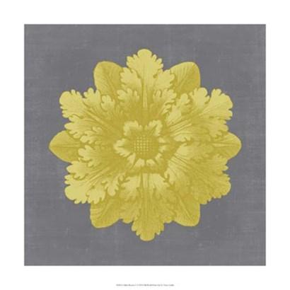 Gilded Rosette V by Vision Studio art print