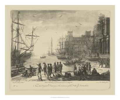 Antique Harbor II by Claude Lorrain art print