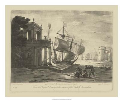 Antique Harbor IV by Claude Lorrain art print