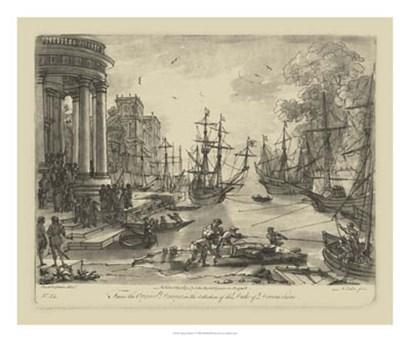 Antique Harbor V by Claude Lorrain art print