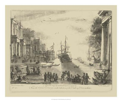 Antique Harbor VI by Claude Lorrain art print